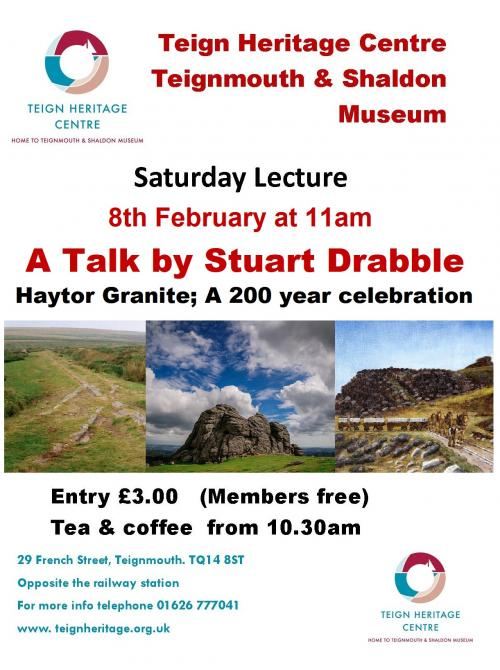 Saturday Lecture: Haytor Granite; A 200 year celebration