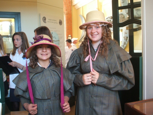 The Mary Anning writing project - dressing up as Mary Anning