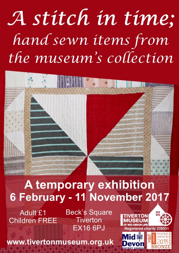 A Stitch In Time   new temporary exhibition