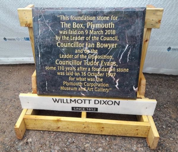 The Box, Plymouth lays its Foundation Stone