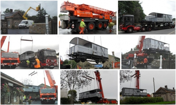 Arrival and installation of Brake Van