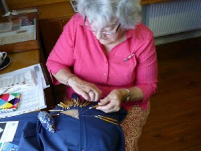 Lacemaking demos at Fairlynch