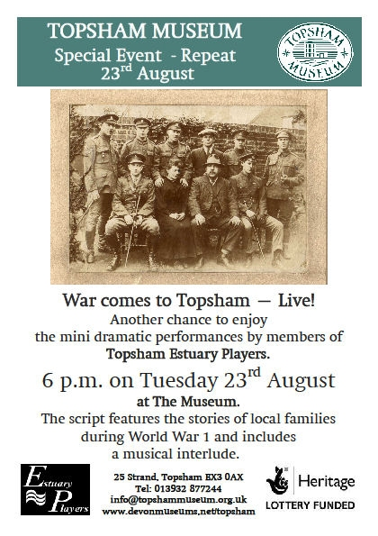 War Comes to Topsham  Live performance at the Museum