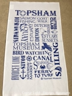 Topsham Calligraphy Tea Towel product photo