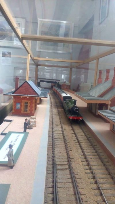 Inside the model of Crediton Station